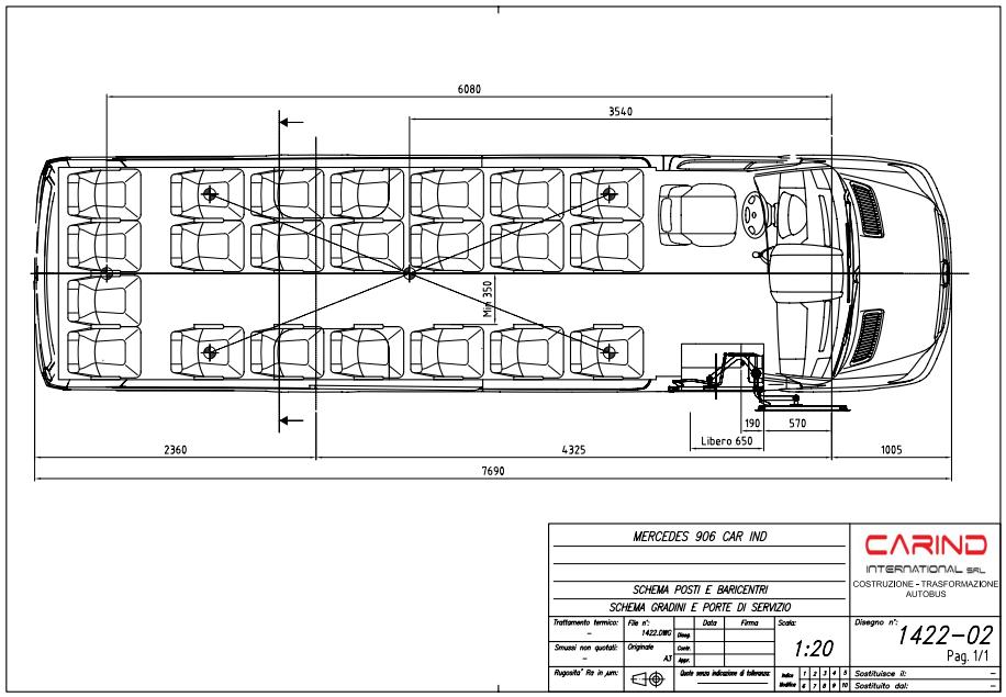 scheda tecnica autobus urbano Fiat ducato 3000