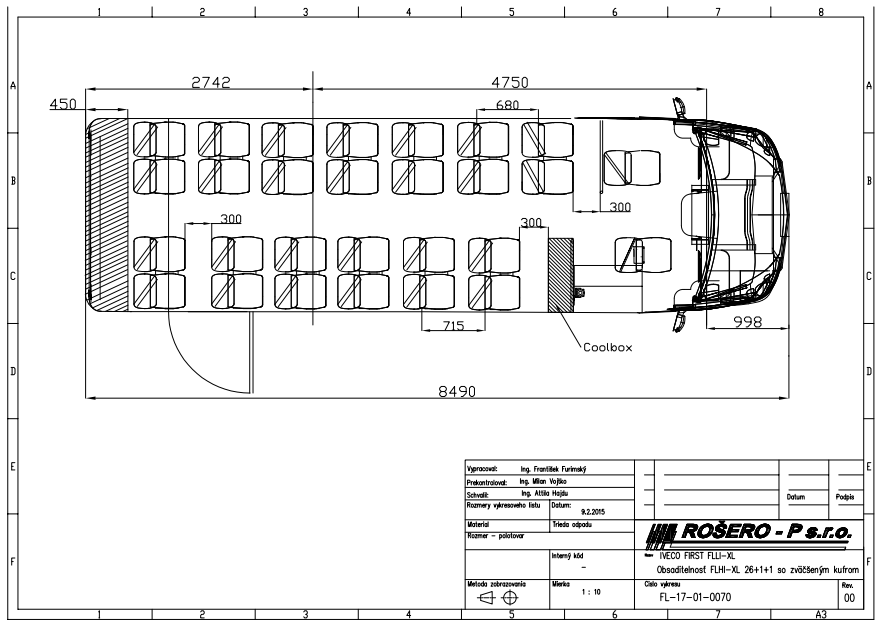 scheda tecnica autobus turismo iveco 70 c 17