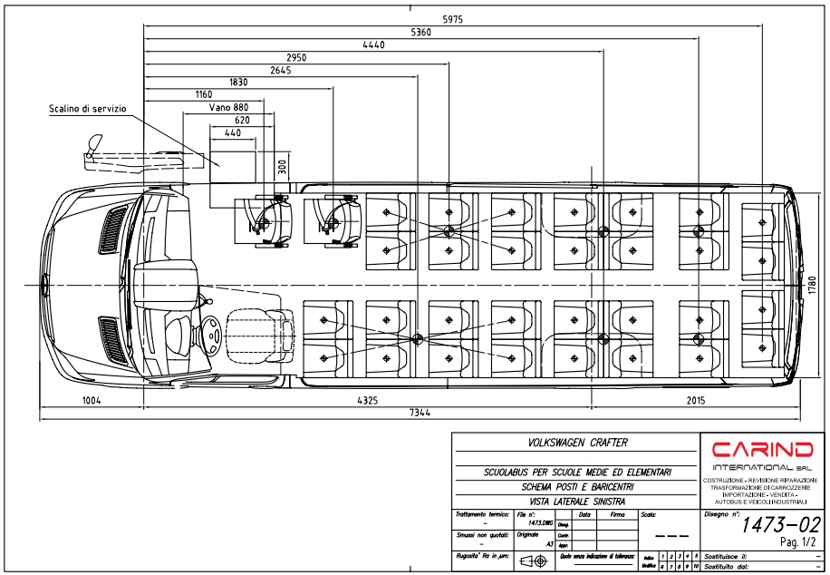scheda tecnica Scuolabus Volkswagen crafter 50
